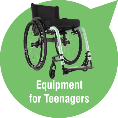 Powerchairs and wheelchairs for teenagers