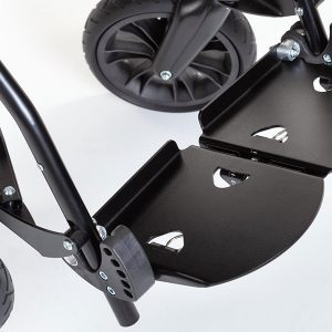 ZIP, aluminium footrest with different angle positions