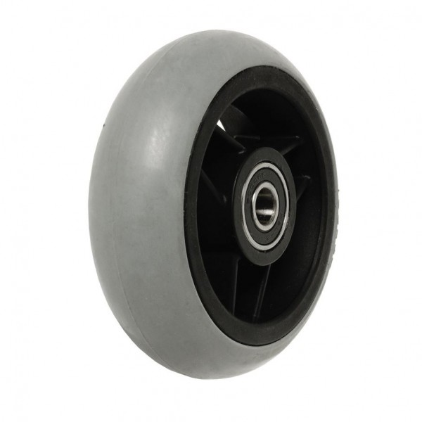 4″ (100 X 32mm) Black Plastic Wheel & Grey Tyre Castor Wheel