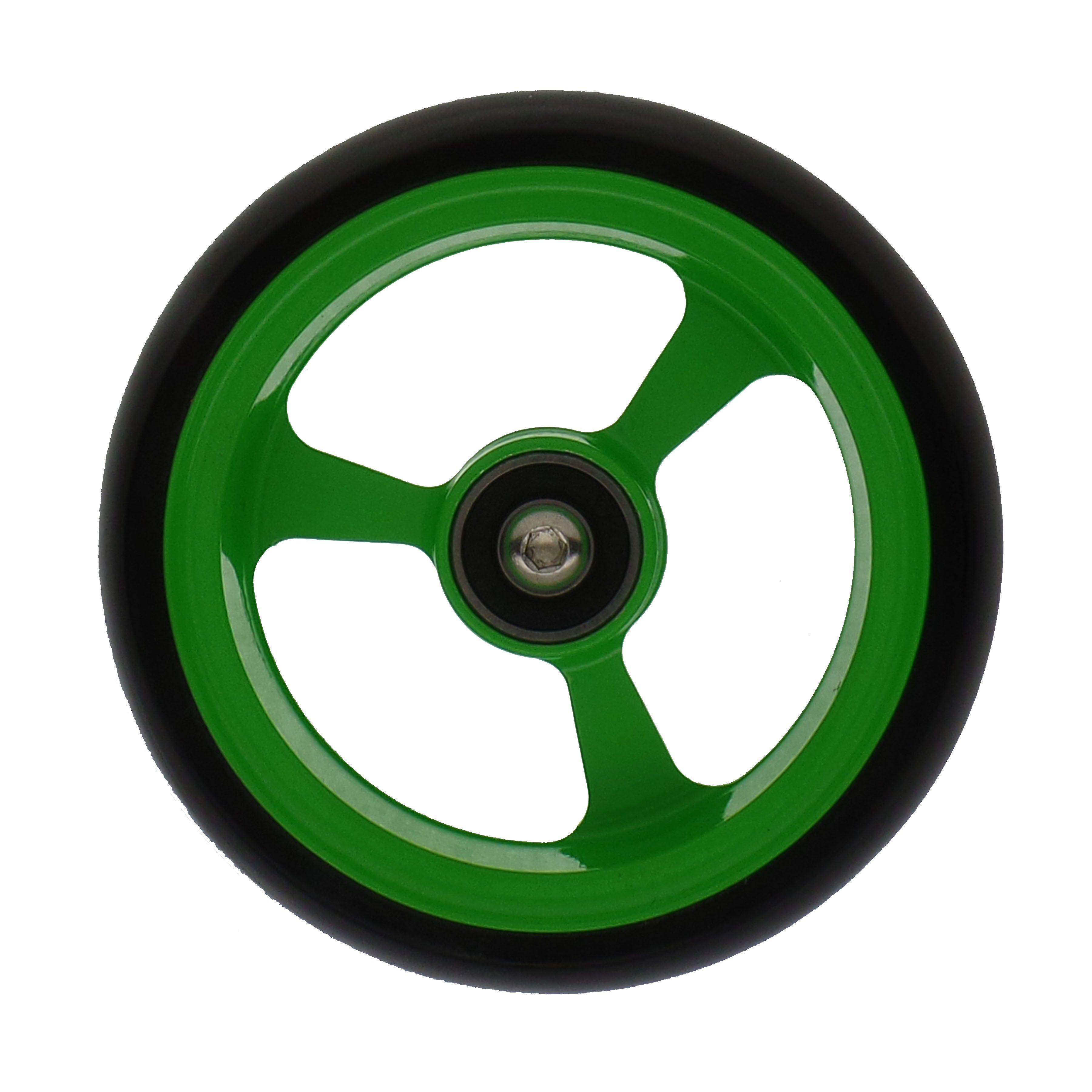 4 X 1 4 Quot Frog Legs Powder Coated Castor Wheel Green