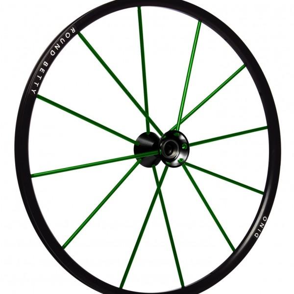 24″ Round Betty Dino Wheel Green Spokes