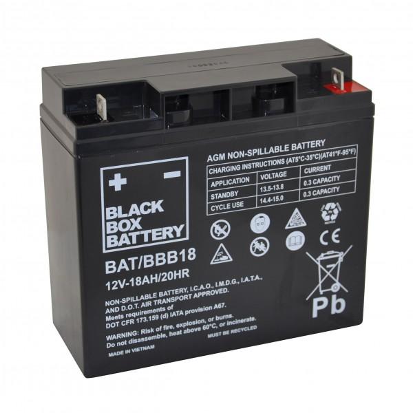 18Ah Black Box AGM Battery