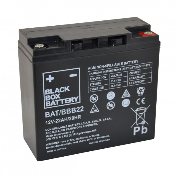 22Ah Black Box AGM Battery