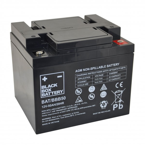 50Ah Black Box AGM Battery