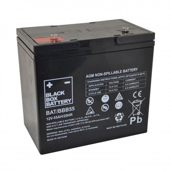 55Ah Black Box AGM Battery