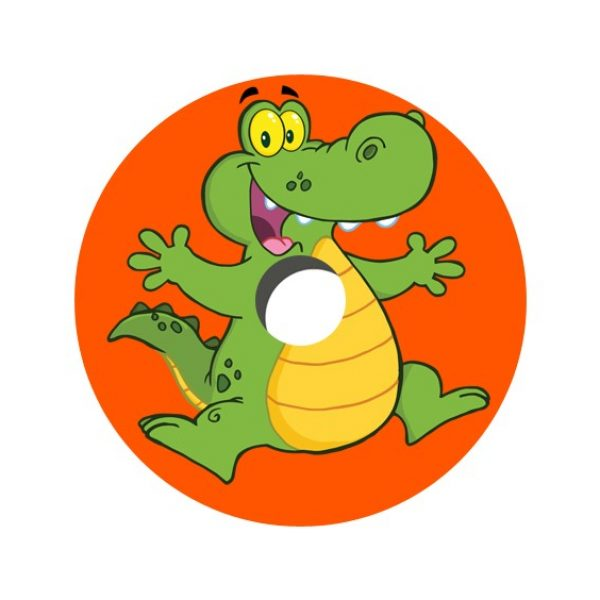 Cartoon Croc Decal Spoke Protector