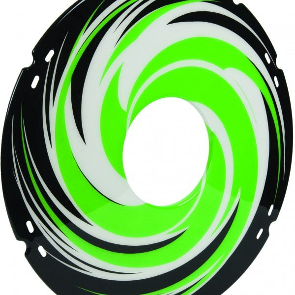 20″/ 22″/ 24″ Green Swirl Decal Spoke Protector (Pair)