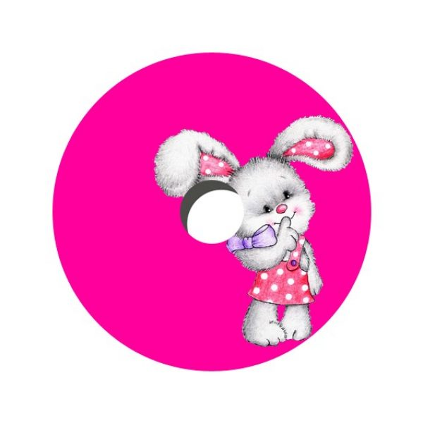 Pink Bunny Decal Spoke Protector