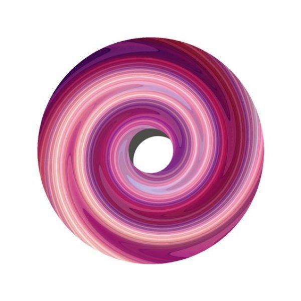 20″/ 22″/ 24″ Pink & Purple Swirl Decal Spoke Protector (Pair)