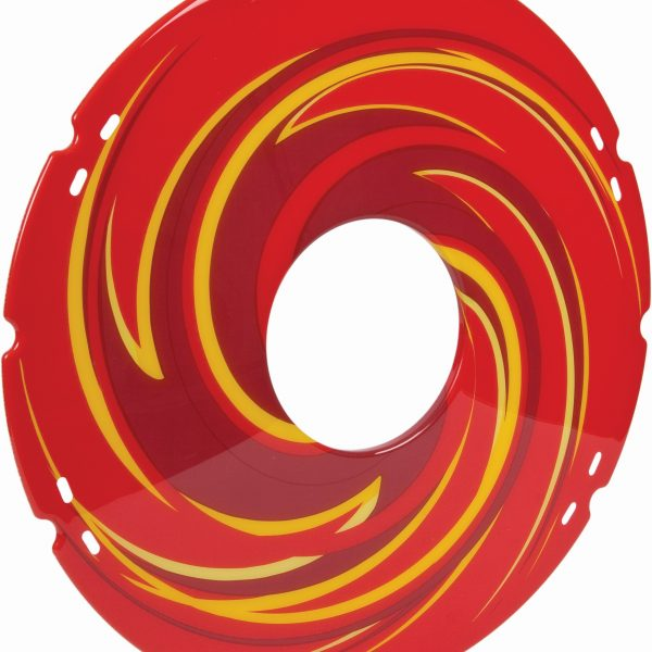 Red Swirl Decal Spoke Protector