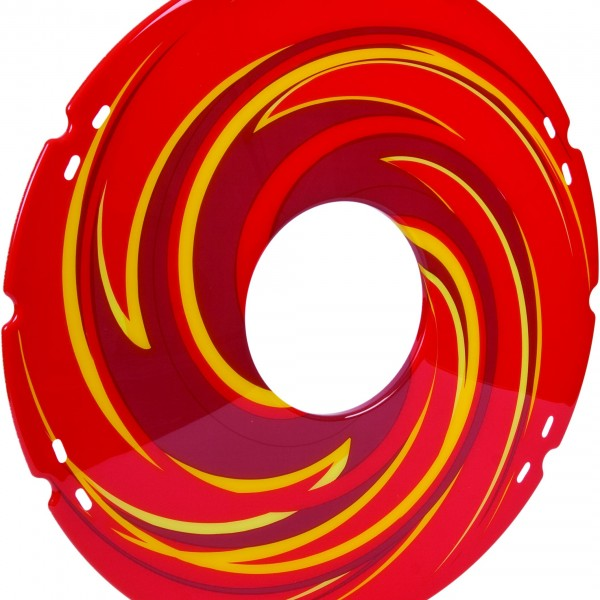 20″/ 22″/ 24″ Red Swirl Decal Spoke Protector (Pair)