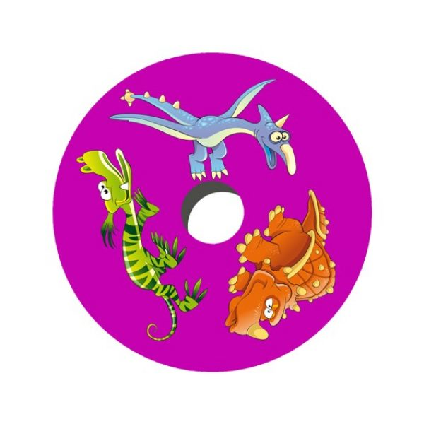 Cartoon Dinosaurs Decal Spoke Protector