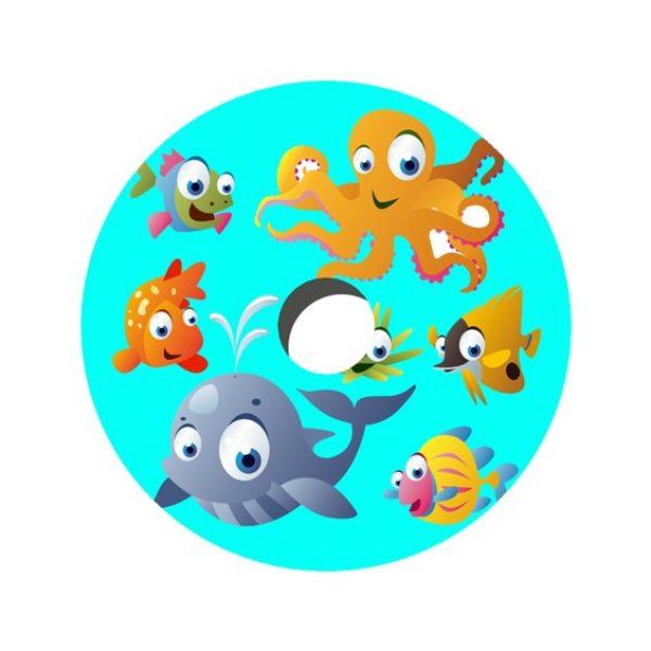 Cartoon Sea Creatures Decal Spoke Protector