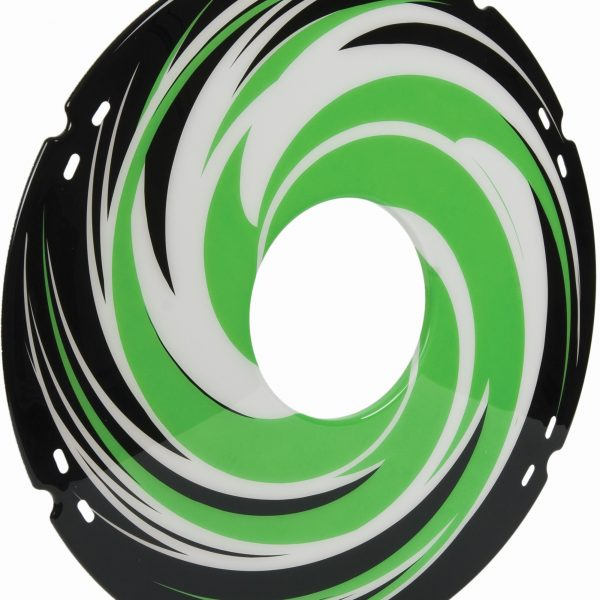 Green Swirl Decal Spoke Protector