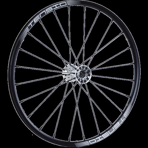 24″ Heavy Duty Tensio Wheel Black Spokes