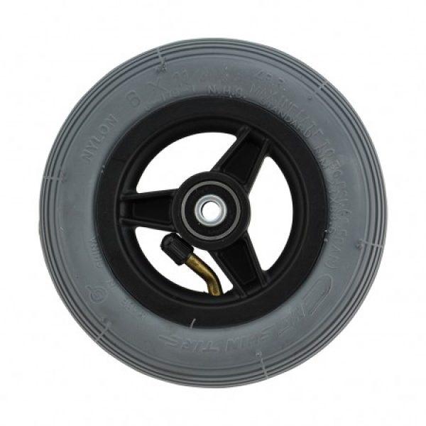 6 X 1 1/4 Black Plastic Wheel & Tyre Assembly