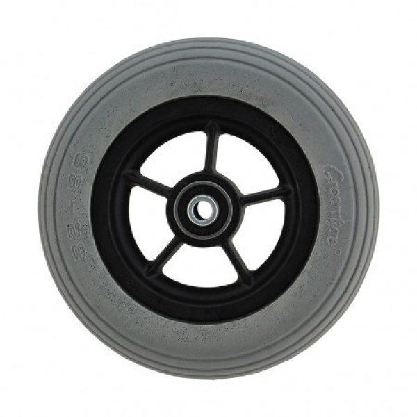 6 X 1 1/4 Black Plastic Wheel & Grey Cub Tyre