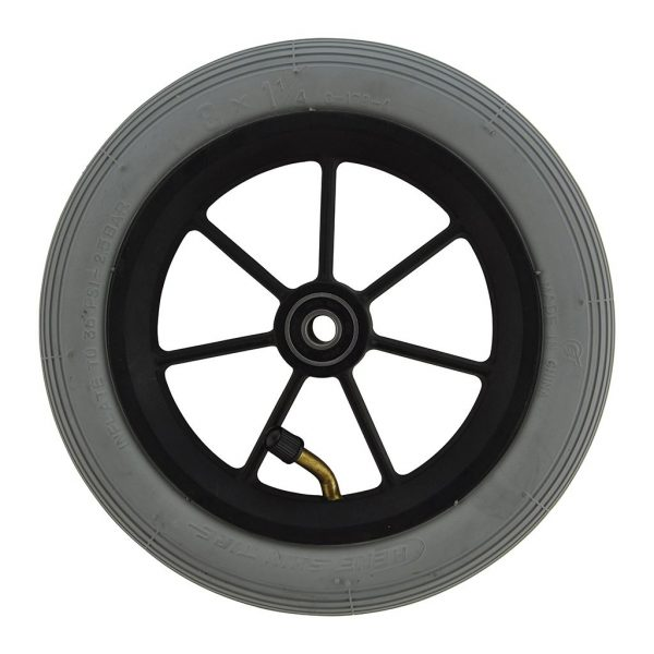 8 X 1 1/4 Black Plastic Wheel & Tyre Assembly