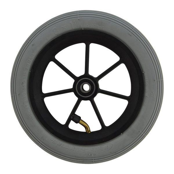 8 X 1 1/4 Black Plastic Wheel & Tyre Assembly