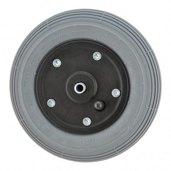 7 X 1 3/4 Black Plastic Wheel & Tyre Assembly