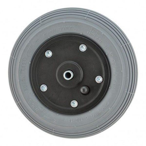 7 X 1 3/4 Black Plastic Wheel & Tyre Assembly