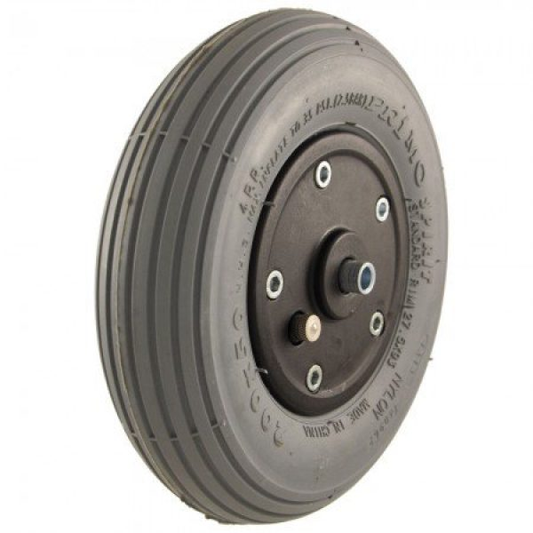 200 X 50 Black Plastic Wheel & Tyre Assembly