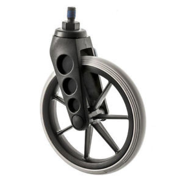 Colson 190mm Narrow Profile Ultralight Castor (Black)